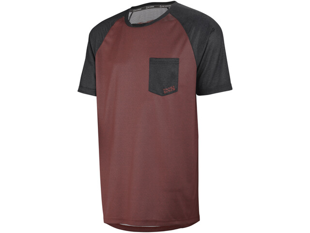 IXS Flow Jersey Men night red/black